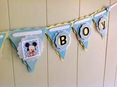 Baby mickey banner