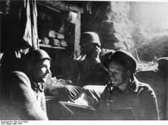 A command post for a Fallschirmjäger unit inside the Monestary on Monte Cassino.