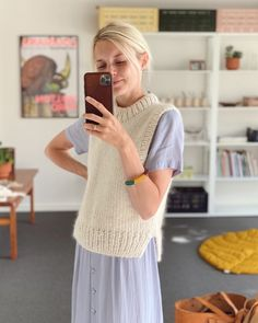 Holiday Slipover – PetiteKnit Knit Vest Pattern, Sweater Knitting Patterns, Kos, Knit Fashion, Fashion Outfits, Mohair Yarn, Stockinette, Knitwear, Knit Crochet