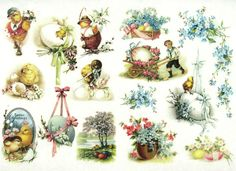 Ricepaper/Decoupage paper, Scrapbooking Sheets Vintage Happy Easter Mix in Crafts, Cardmaking & Scrapbooking, Decoupage | eBay