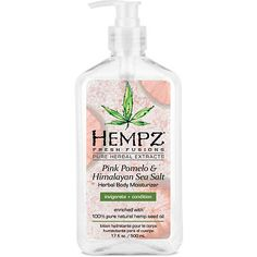 Hempz Pink Pomelo and Himalayan Sea Salt Herbal Body Moisturizer 17 oz. >>> Find out more about the great product at the image link. (This is an affiliate link) Pune, Hempz Lotion, Body Lotion, Himalayan Sea Salt, Terra Oils, Anti Aging Moisturizer, Skin Care Tools, Kraut, Herbalism