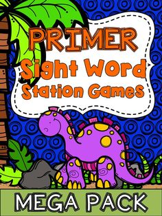 Need literacy stations to keep your kids reviewing their sight words? I have compiled many games in this pack, all ready for your literacy stations! I am super excited about what you'll find here. You'll find several fun sight word games that my kids love to do and I know yours will also! All of these games focus on the 52 primer words of the dolch sight word list.