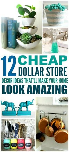 12 Cheap and Easy Dollar Store Decor Hacks That'll Make Your Home Look Amazing Craftybegonia craftybegonia DIY Decor These 12 Dollar Store Decor Hacks are THE BEST! I'm so glad I found these GREAT home decor ideas and tips! Now I have great ways to d Dollar Store Hacks, Dollar Store Crafts, Dollar Stores, Dollar Store Organization, Organizing Life, Organising, Diy Organization, Easy Home Decor, Cheap Home Decor