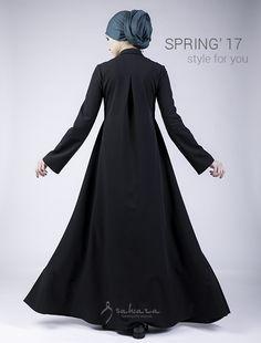 Платье со съемным галстуком купить недорого в Москве, России, Казахстане - фото и цены | Интернет магазин Sahara Hijab Evening Dress, Hijab Dress, Muslim Women Fashion, Islamic Fashion, Modele Hijab, Abaya Designs, Pakistani Dress Design, Batik Dress, Islamic Clothing