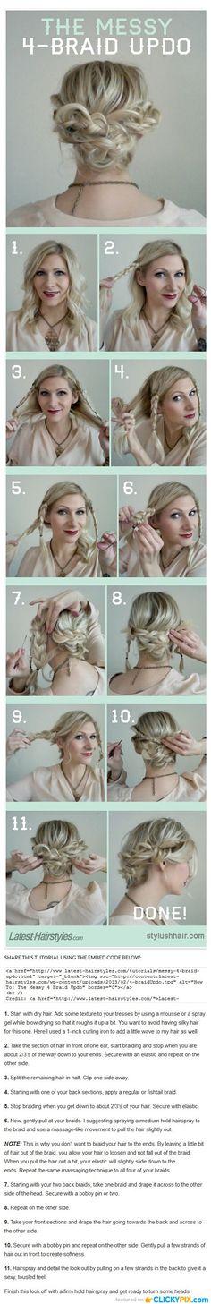 DIY Hair Tutorials Step by Step Guides
