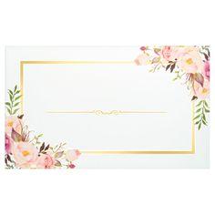 Shop Elegant Chic Floral Gold Frame Wedding Party Banner created by CardHunter. Wedding Frames, Wedding Cards, Wedding Invitations, Invitations Online, Party Wedding, Wedding Reception, Frame Floral, Flower Frame, Wedding Script