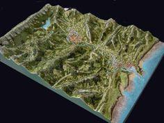 maqueta topografica Gipuzkoa