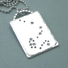 Draco - Constellation Necklace - via Etsy. Draco Constellation, Constellation Necklace, Constellation Tattoos, Female Dragon, Dragon Lady, Angels Touch, Hand Gestempelt, Creation Myth, Pole Star