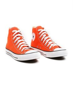 Orange Converse, Converse All Star, Converse Chuck Taylor, Tenis Star, Chuck Taylors, Cute Shoes, Men's Shoes, Shoe Art, High Top Sneakers