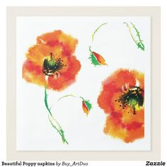 Shop Beautiful Poppy napkins created by Buy_ArtDuo. Personalize it with photos & text or purchase as is! Red Poppies, Red Flowers, Casual Dinner, Wedding Napkins, Ecru Color, Dinner Napkins, Corner Designs, Love Gifts, Little Red