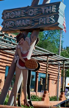 Home of the Ho-Made Pies, vintage sign