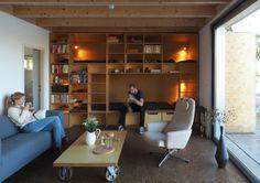 Archiweb - Chata v Senci Corner Desk, Bookcase, Shelves, Furniture, Home Decor, Houses, Corner Table, Homes, Shelving
