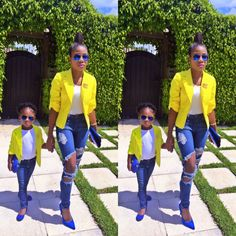Mommie and daughter matching outfit
