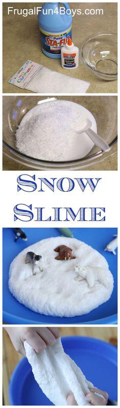 Snow Dough The Pleasantest Thing Snow dough, Sensory