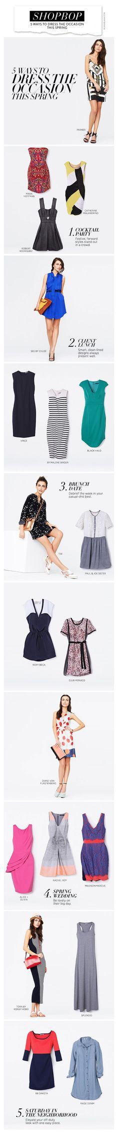 Shopbop's 5 Ways to Dress the Occasion this Spring_ good tips
