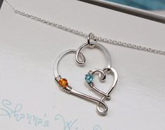 Mothers Double Heart Infinity Sterling Silver Necklace