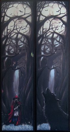 Made after the popular bookmark print I painted, there is now Red Riding Hood printed on canvas available! 20 x 80 cm or 7.87 x 31.49 inch large,these paintings come as a pair. They are printed on a high-quality canvas, with water resistant inks!. Prints are pre-stretched on the inner wooden frame (finished printed canvas), and have the printed black frame around each, which wont visually stop you from framing it into something else later, if you wish. Each can come with a hanging hook on…