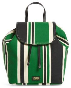 a99d6dca774a Frances Valentine Ann Stripe Canvas Drawstring Backpack Striped Backpack