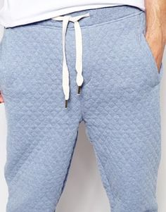 0798e533794 Native Youth - Blue Quilted Sweat Pants for Men - Lyst