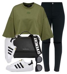 """""""Buffalo"""" by monmondefou ❤ liked on Polyvore featuring Givenchy, adidas, STELLA McCARTNEY, black and GREEN"""