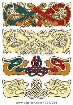 Celtic motifs Poster Mayan Symbols, Viking Symbols, Viking Runes, Egyptian Symbols, Ancient Symbols, Viking Designs, Celtic Designs, Celtic Dragon, Celtic Art