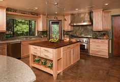 Natural Maple Cabinets Kitchen Design Ideas, Pictures, Remodel and Decor