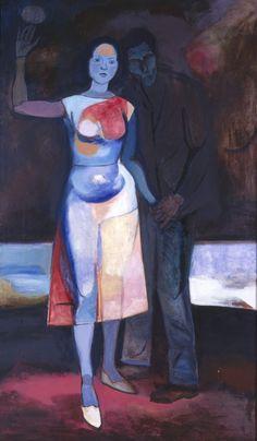 Andrzej Wróblewski Zakochani/ The Lovers,1956