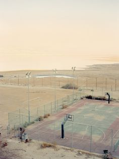 A BasketBall court in the middle of nowhere, cosy and sweet late afternoon. No noise