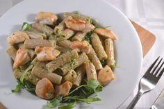 Spelt Pasta met Kip, Rucola en Zelfgemaakte Pesto