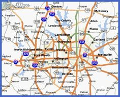 Map of Fort Worth with outlying suburbs Notice 820