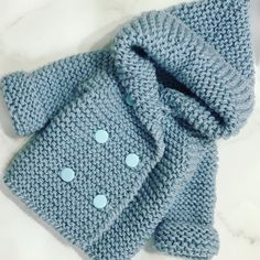 Easy Baby Knitting Patterns, Baby Cardigan Knitting Pattern Free, Free Baby Blanket Patterns, Baby Boy Knitting, Knitting For Kids, Free Knitting, Cardigan Bebe, Diy Crafts Knitting, Hand Embroidery Videos