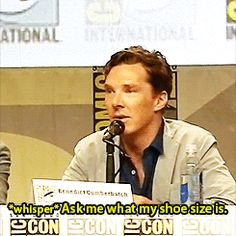 The 21 Most Amazing Things That Happened At Comic-Con This Year -- Benedict Cumberbatch made dick jokes.