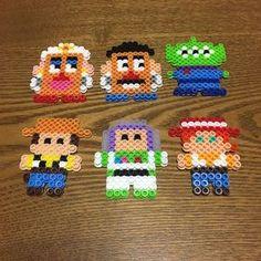 Toy Story perler beads by hyanchiru Perler Bead Designs, Perler Bead Templates, Hama Beads Design, Diy Perler Beads, Perler Bead Art, Pearler Beads, Melty Bead Patterns, Pearler Bead Patterns, Perler Patterns