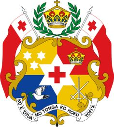 Brasão de armas de Tonga. Coat of arms of Tonga.