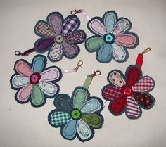 denim bag charms by The Patchwork Heart, via Flickr