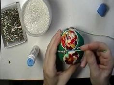 ▶ Christmas Roses Kimekomi Ornament Kit Video from 2011 - YouTube
