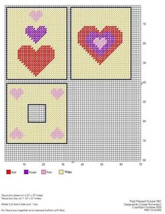 Plastic Canvas Coasters, Plastic Canvas Ornaments, Plastic Canvas Tissue Boxes, Plastic Canvas Christmas, Plastic Canvas Crafts, Plastic Canvas Patterns, Box Patterns, Beading Patterns, Cross Stitch Heart