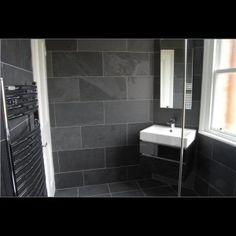 Brazilian Black Natural Riven Slate Flooring/Wall Tile -  600x400x10 (+/-2mm)