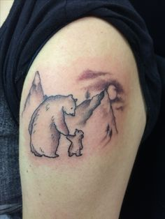 Can't you sleep little bear tattoo by Travis Allen at twisted tattoo Yaxley  Www.twistedtattoo.co.uk  Or on Facebook