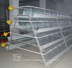 4 Tiers of 160 birds layer cage-Hebei Dingtuo Machinery And Equipment Co. Poultry Cage, Poultry House, Chicken Shelter, Chicken Nesting Boxes, Layer Chicken, Chicken Cages, Diy Fashion Hacks, Layers, Birds