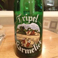 Tripel Karmeliet from Brouwerij Bosteels in Buggenhout, Belgium... one of my favorite Belgian beer... the glass for it is even cooler