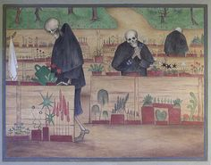 * The Garden of Death fresco cathédrale de Tampere - Hugo Simberg Helsinki, Classical Art Memes, Fresco, The Funny, Make Me Smile, Funny Pictures, Random Pictures, Funny Pics, Funny Memes