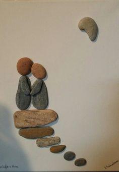 Land Art, Pebble Art, Stone Art, Rock Painting, Rock Art, Painted Rocks, Jars, Art Projects, Craft Ideas