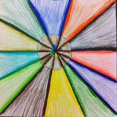Splish Splash Splatter: Colored Pencil Drawings -Could even do a color wheel!  Cool blog!
