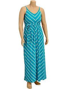 Womens Plus Chevron-Stripe Maxi Dresses | Old Navy