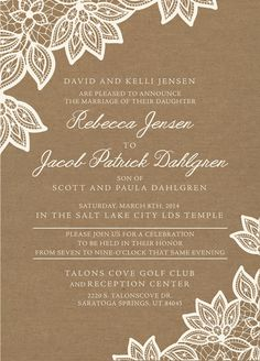 Lds wedding invitations - 1000 Images About Lds Wedding Invitations On Pinterest