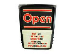 vintage open sign w letters numbers open display sign 15 00 qty