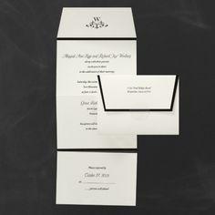 Sophisticated Style - Seal 'n Send - Ecru     | 40% OFF |  http://mediaplus.carlsoncraft.com/Wedding/Wedding-Invitations/1080-WRMD30696-Sophisticated-Style--Seal-n-Send--Ecru.pro