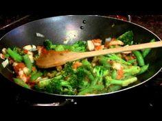 Sweet Potato, Pea, Broccoli, and Quinoa Stir Fry