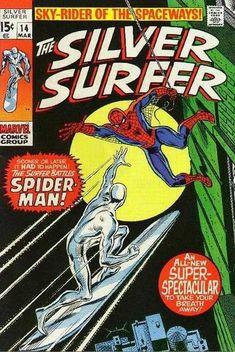 Silver Surfer #14 - Silver Surfer vs Spider-Man